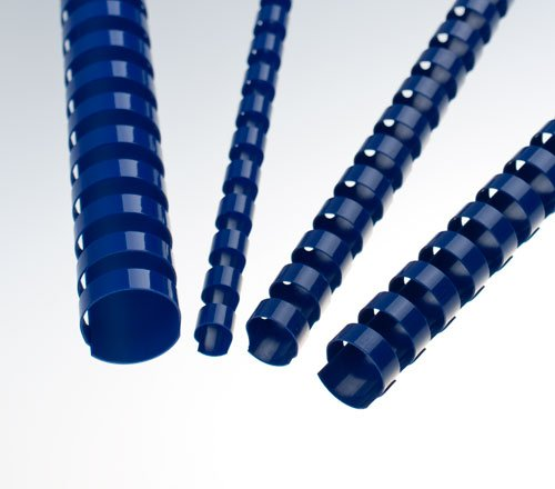 EuroSupplies Plastové pl. hřbety 10 modré